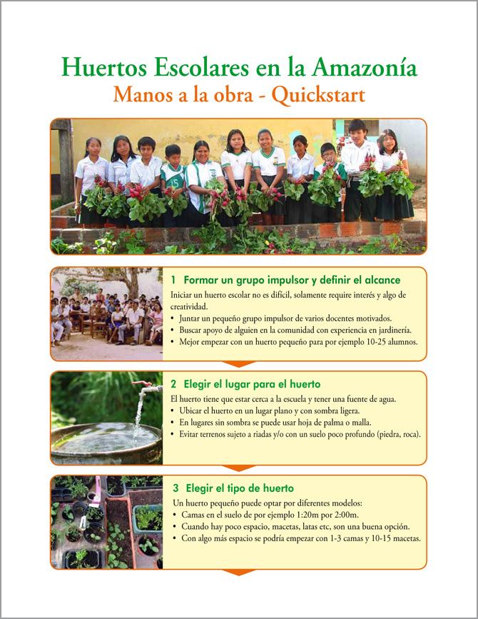 Huertos Escolares en la Amazonía - Manos a la obra - Quickstart